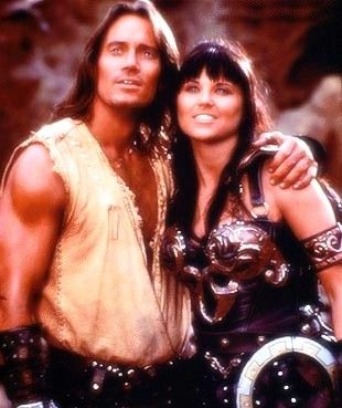 Xena: Warrior Princess Lucy Lawless and Kevin Sorbo