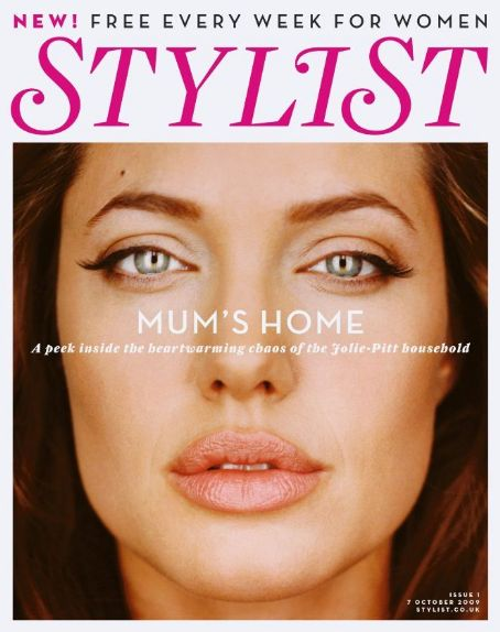 Angelina Jolie - Stylist Magazine Cover [United Kingdom] (7 October 2009)