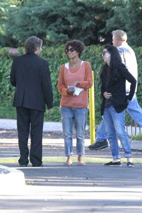 "Halle Berry on the set of ""The Hive"" in Los Angeles, CA (July 29)"