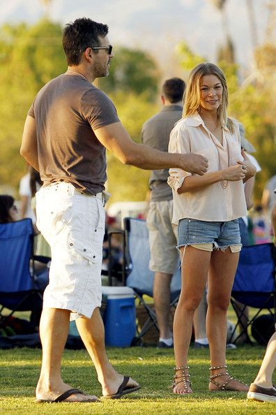 LeAnn Rimes: soccer game in Los Angeles