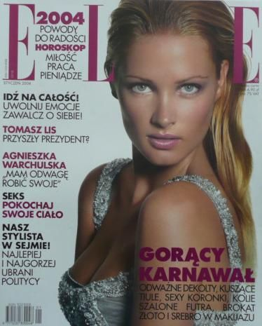 Sharon Van der Knaap - Elle Magazine Cover [Poland] (January 2004)