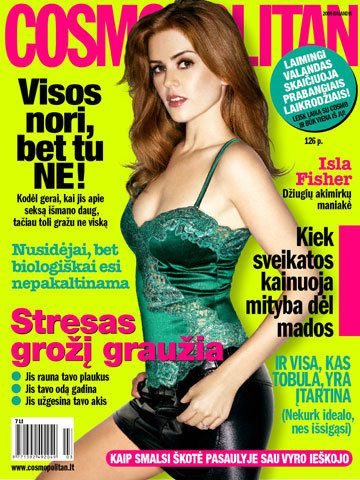 Isla Fisher - Cosmopolitan Magazine [Lithuania] (February 2009)