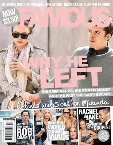 Orlando Bloom, Miranda Kerr - Famous Magazine Cover [Australia] (14 March 2010)