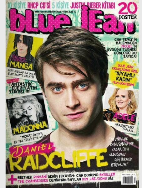 Madonna, Adele, Daniel Radcliffe - blue jean Magazine Cover [Turkey] (March 2012)