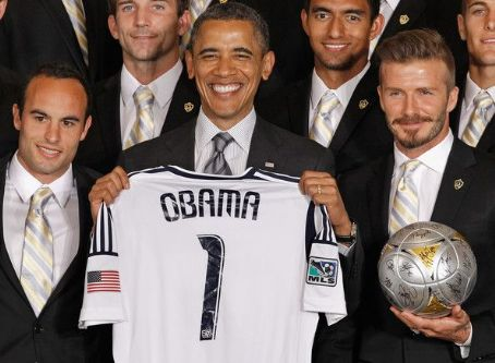 David Beckham - Obama Welcomes MLS Champions LA Galaxy To The White House