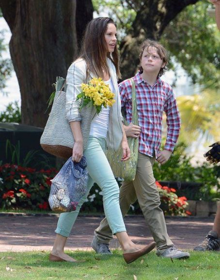 "Hilary Swank on the Wilmington set of her new movie project ""Martha & Mary"" (July 11)"