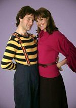 Pam Dawber Robin Williams and  in Mork & Mindy (1978)