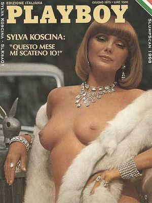 Sylva Koscina - Playboy Magazine Cover [Italy] (June 1975)