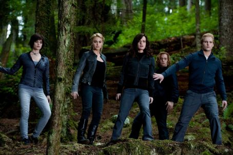 Rosalie Hale (L to R) ASHLEY GREENE, NIKKI REED, ELIZABETH REASER, JACKSON RATHBONE and PETER FACINELLI star in THE TWILIGHT SAGA: ECLIPSE. Photo: Kimberley French. © 2009 Summit Entertainment. All Rights Reserved.