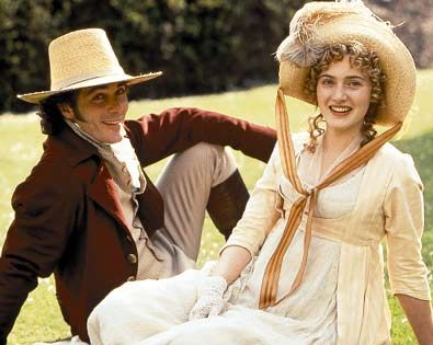 Sense and Sensibility Kate Winslet as Marianne Dashwood and Greg Wise as John Willoughby in  (1995)