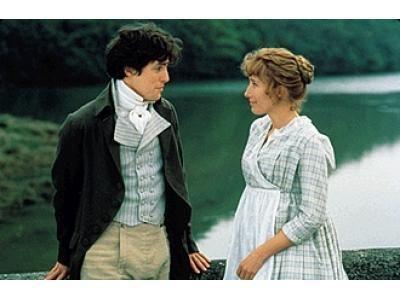 Sense and Sensibility Hugh Grant as Edward Ferrars and Emma Thompson as Elinor Dashwood in  (1995)