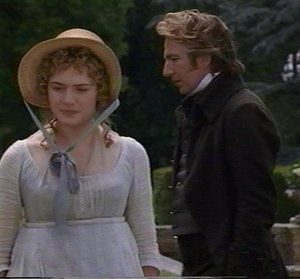 Sense and Sensibility Kate Winslet  as Marianne Dashwood and Alan Rickman as Col. Christopher Brandon in  (1995)