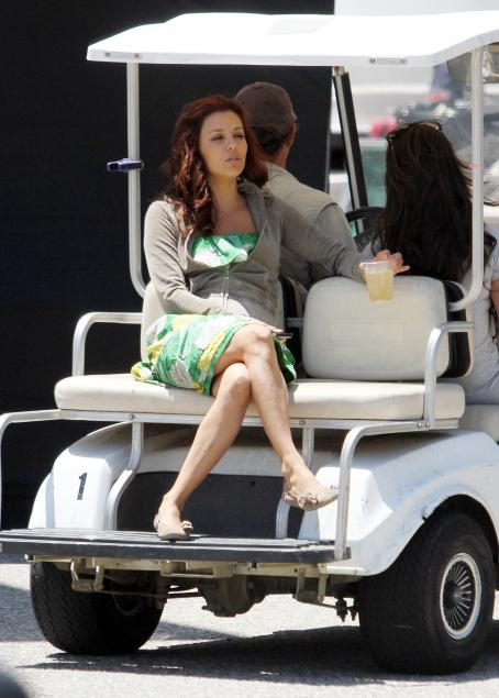 "Eva Longoria Parker - Eva Longoria On ""Without Men"" Set In Santa Barbara - June 26, 2010"