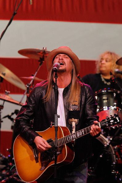 Musician Kid Rock performs during a campaign rally for Republican presidential candidate and former Massachusetts Gov. Mitt Romney at the Royal Oak Theatre on February 27, 2012 in Royal Oak, Michigan. Michigan residents will go to the polls on February 28