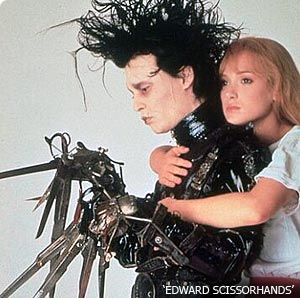 Edward Scissorhands Johnny Depp As  And Winona Ryder As Kim In  (1990)