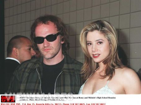 Quentin Tarantino Mira Sorvino and
