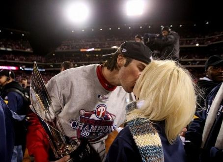 Heidi Strobel  and Cole Hamels
