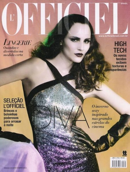 Fernanda Tavares - L'Officiel Magazine Cover [Brazil] (May 2008)