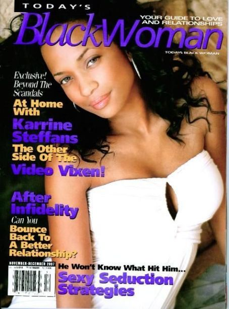 Karrine Steffans-McCrary - Today's Black Woman Magazine Cover [United States] (December 2007)