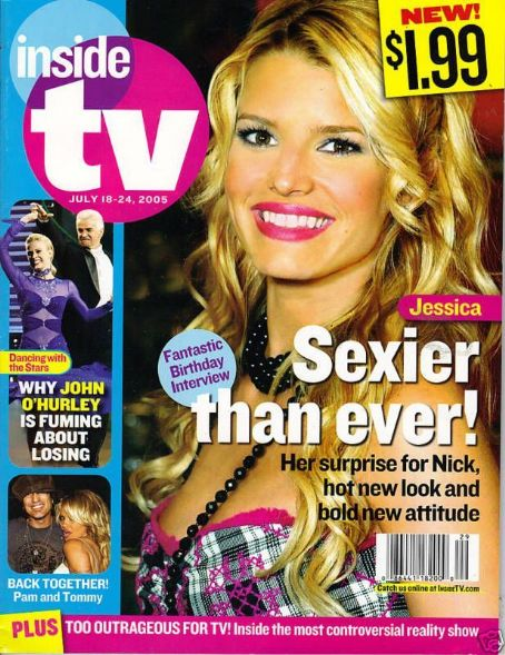 Jessica Simpson - Inside TV Magazine Cover [United States] (July 2005)