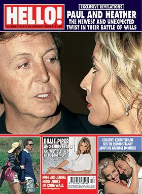 Heather Mills, Paul McCartney - Hello! Magazine Cover [United Kingdom] (22 August 2006)