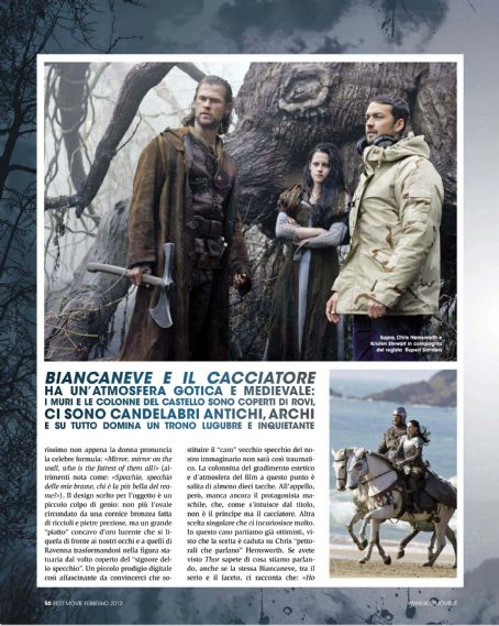 Snow White and the Huntsman - Snow White and The Huntsman on Best Movie Italy Magazine February 2012