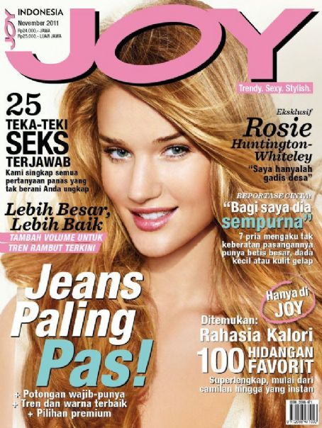 Rosie Huntington-Whiteley - Joy Magazine Cover [Indonesia] (November 2011)