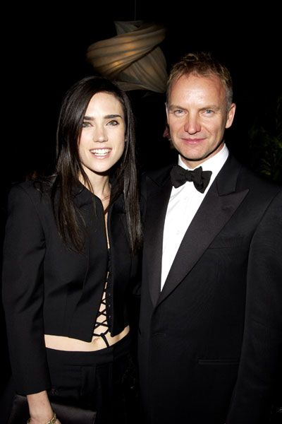 Sting  with Jennifer Connelly at Award Show