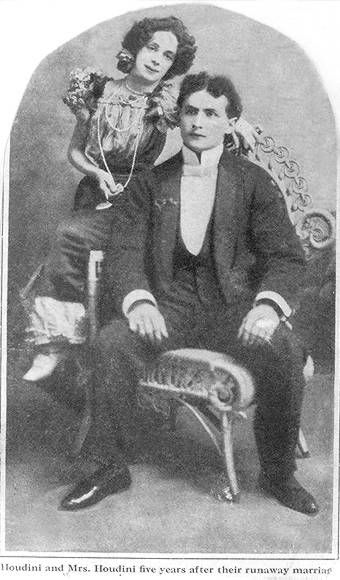 Harry Houdini - early picture when he and Betrice were first married