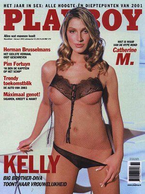 Kelly van der Veer - Playboy Magazine Cover [Netherlands] (February 2002)