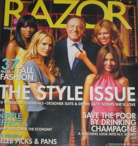 Molly Sims, Vanessa Marcil, Nikki Cox, James Caan - Razor Magazine Cover [United States] (September 2004)
