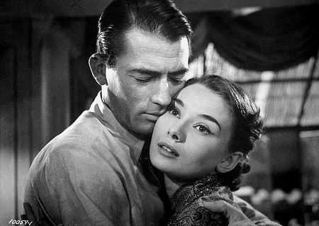 Roman Holiday Gregory Peck and Audrey Hepburn in  (1953)