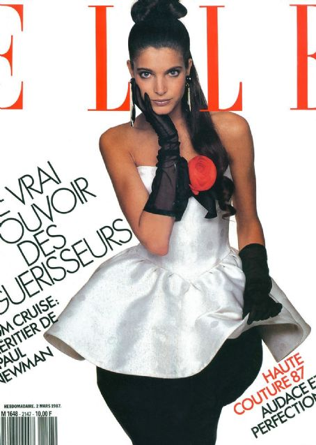 Stephanie Seymour - Elle Magazine Cover [France] (2 March 1987)
