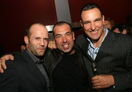 Actors Jason Statham, Rick Hoffman and Vinnie Jones