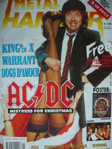 Angus Young - Metal&Hammer Magazine Cover [United Kingdom] (November 1990)