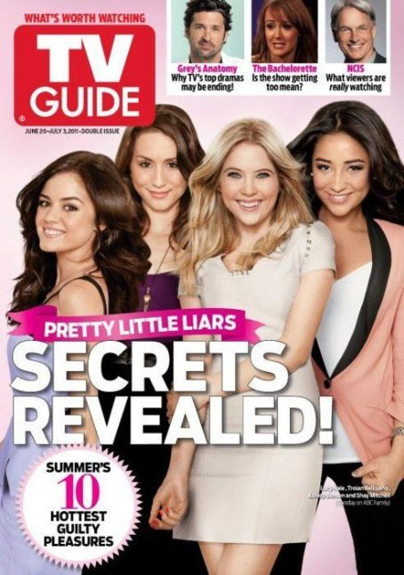 Troian Bellisario, Lucy Hale, Ashley Benson, Shay Mitchell - TV Guide Magazine Cover [United States] (20 June 2011)