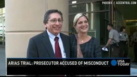 Juan Martinez  Poses With a Fan Outside the Courthouse In Phoenix