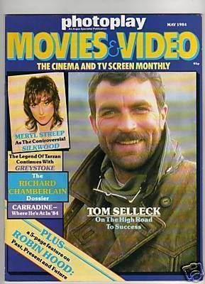 Tom Selleck - Photoplay Magazine [United Kingdom] (May 1984)