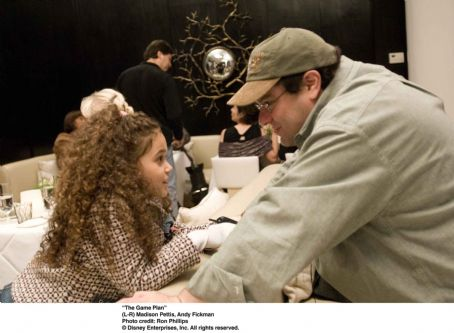 "Madison Pettis and Andy Fickman behind the scene of ""THE GAME PLAN"" © Disney Enterprises, Inc. All rights reserved. Photo Credit: RON PHILLIPS"