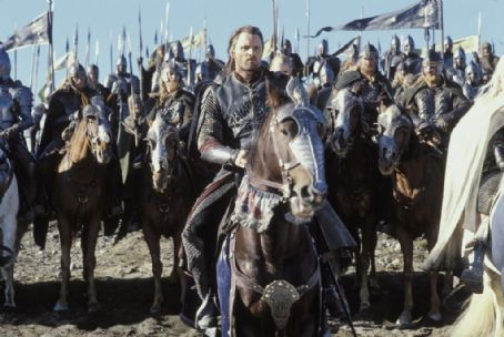'Aragorn' (Viggo Mortensen) readies for battle in New Line Cinema's epic film, The Lord of the Rings: The Return of the King.