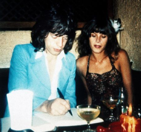 Uschi Obermaier  and Mick Jagger