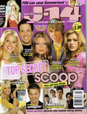 Kelly Clarkson - J-14 Magazine [United States] (August 2005)