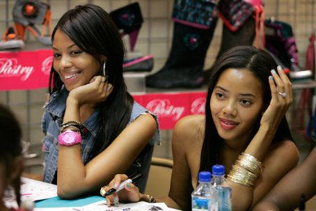 Angela And Vanessa Simmons In-Store