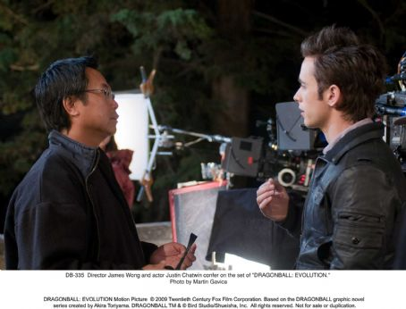Goku Director James Wong and actor Justin Chatwin confer on the set of 'DRAGONBALL: EVOLUTION.' Photo credit: Martin Gavica.  ©2009 Twentieth Century Fox Film Corporation. All rights reserved.