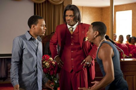 Benny (L-r) BOW WOW as Kevin Carson, MIKE EPPS as Reverend Taylor and BRANDON T. JACKSON as  in Alcon Entertainment's comedy 'LOTTERY TICKET,' a Warner Bros. Pictures release. Photo by David Lee