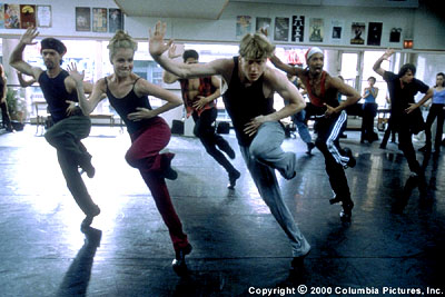 Amanda Schull  (second from left) and Ethan Stiefel (center) in Columbia's Center Stage - 2000