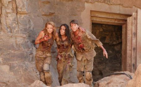 The Hills Have Eyes II Jessica Stroup as Amber Johnson, Daniella Alonso as Missy Martinez and Michael McMillian as David 'Napoleon' Napoli in The Hills Have Eyes 2 - 2007