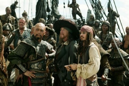 Jack Sparrow Captains Sao Feng, Barbossa, and