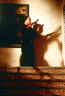 Mission: Impossible II - Director John Woo on the set of Paramount's Mission Impossible 2 - 2000