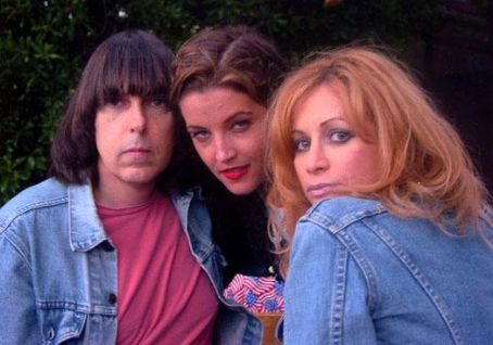 Johnny Ramone Johnny, Lisa Marie Presley, and Linda Ramone